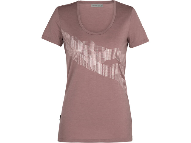 Icebreaker Tech Lite SS Scoop Shirt St Anton Women, suede